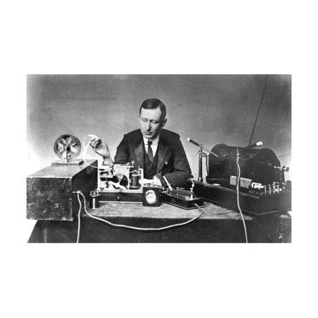 Guglielmo Marconi (1874-193), Italian Physicist and Radio Pioneer Print Wall (The First Radio Invented By Guglielmo Marconi)