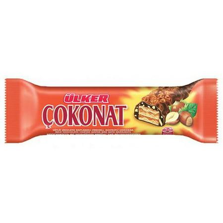 Chocolate Cinnamon Wafers (Ülker Chocolate Wafer Bar with Hazelnut - 1.1oz)
