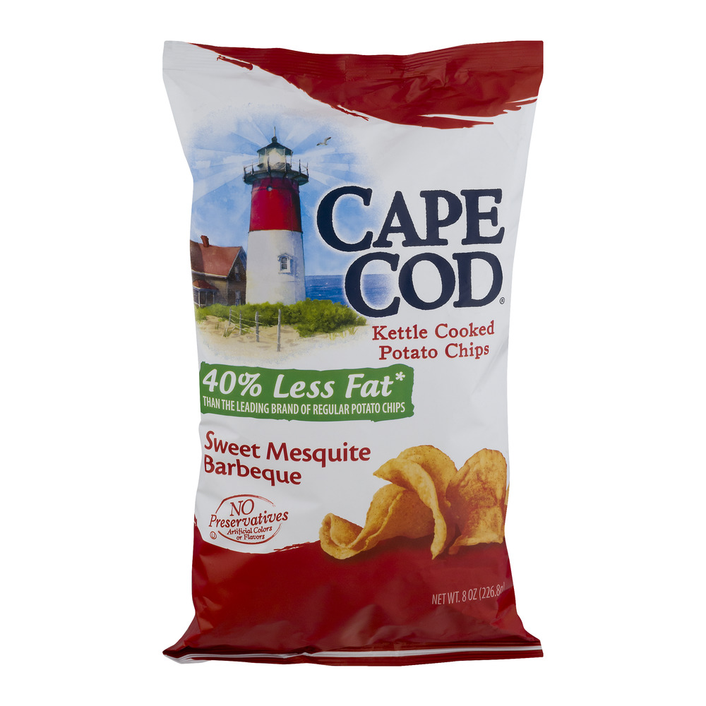 Cape Cod Kettle Cooked Potato Chips Less Fat Sweet Mesquite Barbecue, 8 OZ by SNYDER'S-LANCE, INC.