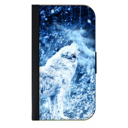 bc62fb77e96e Whimsical Howling Wolf in the Snow - Wallet Phone Case for the iPhone  10/X/XS - iPhone X Wallet Case - iPhone 10 Wallet Case - iPhone XS Wallet  Case