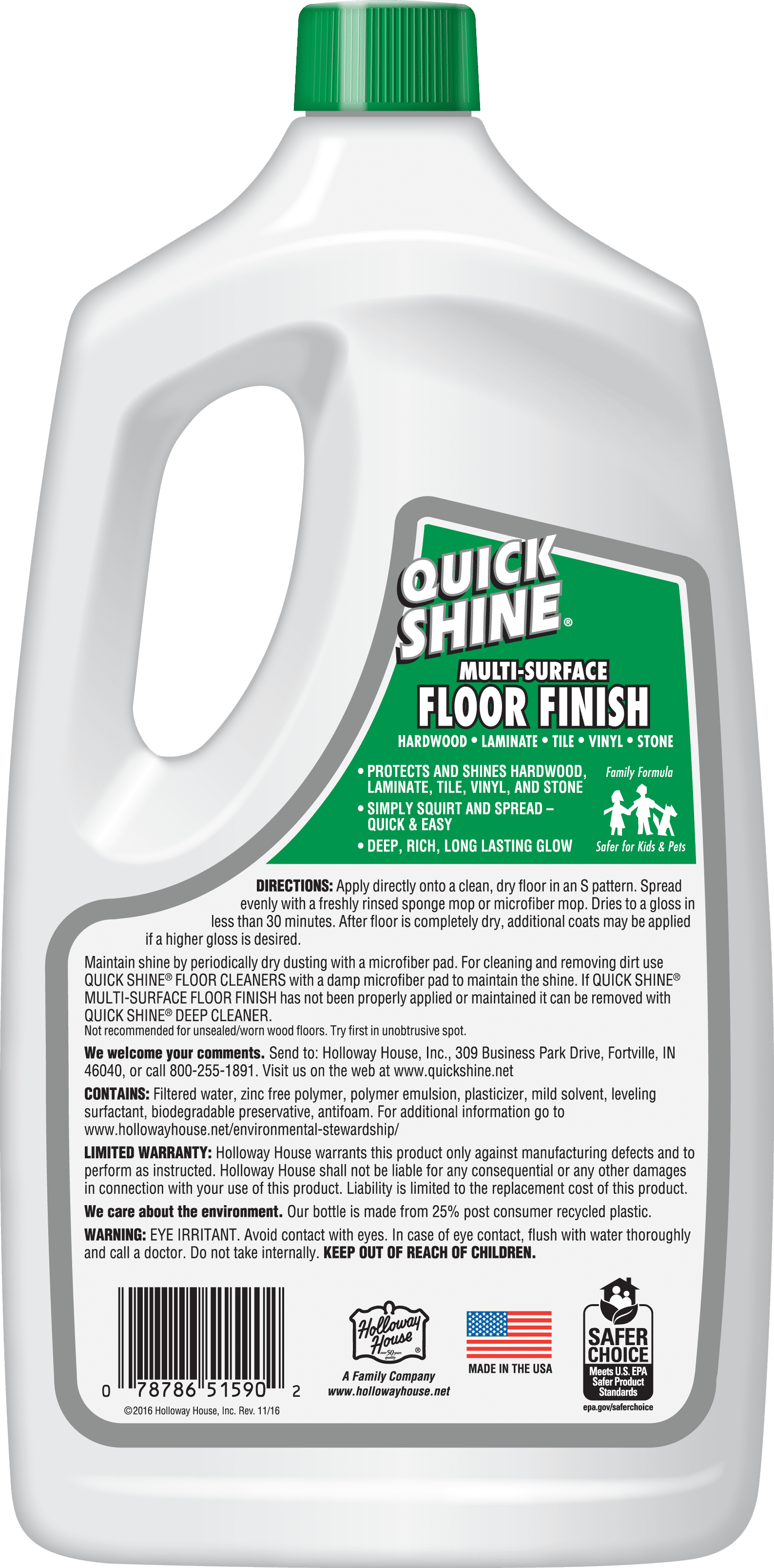 Quick Shine Multi Surface Floor Finish 64 Fl Oz Walmart Com