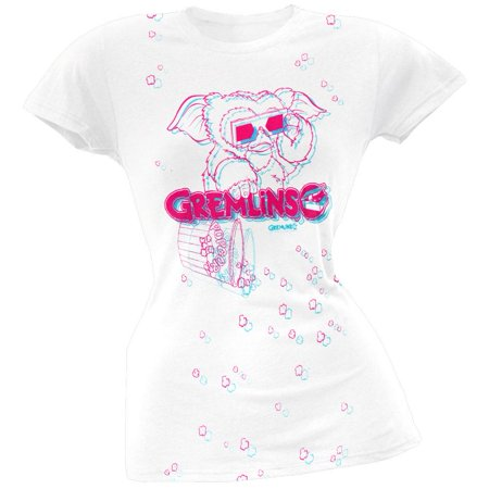 Gremlins - 3D Popcorn Gizmo Juniors T-Shirt - Gizmo Gremlins Costume
