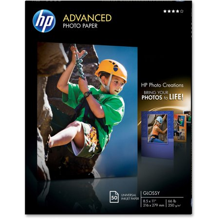 HP Advanced Glossy Photo Paper | 50 Sheet | Letter | 8.5 x 11 in | Q7853A
