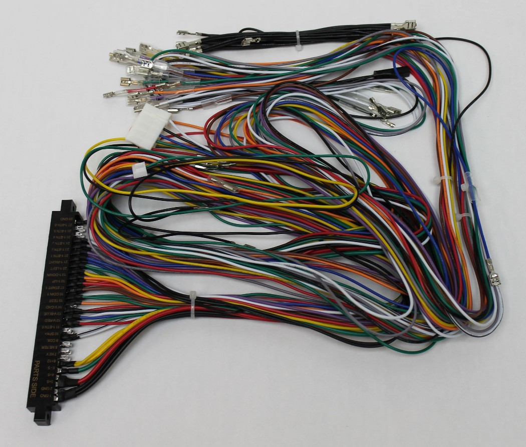 Jamma Board Standard Cabinet Wiring Harness Loom for Jamma 60-in-1 on electric harness for loom, warping a 4 harness loom, wiring loom sleeve,