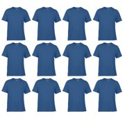 Classic Fit Mens Small Adult Short Sleeve T-Shirt, Royal Blue (12 Pack)