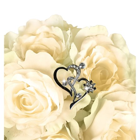 Unik Occasions Bouquet Jewelry, Angled Double Hearts