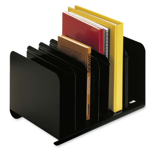 """Mmf Steelmaster Adjustable Book Rack 8.9"""" Height X 15"""" Width X 11"""" Depth 6 Compartment[s] Steel... by MMF"""