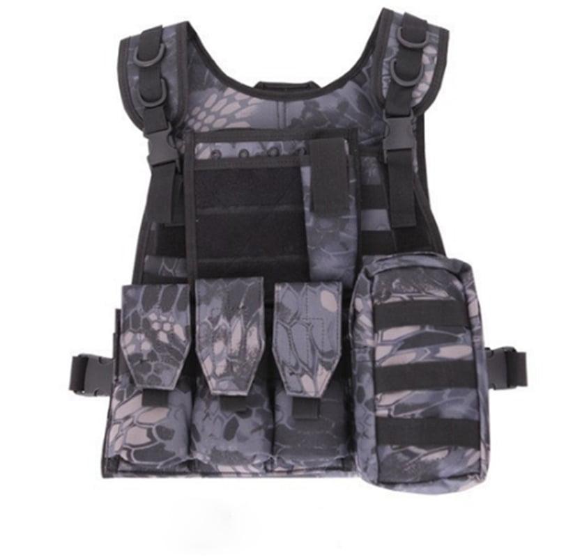Click here to buy Multi Pocket Tactical Vest Camouflage Fishing Vest for Men Color:Black.