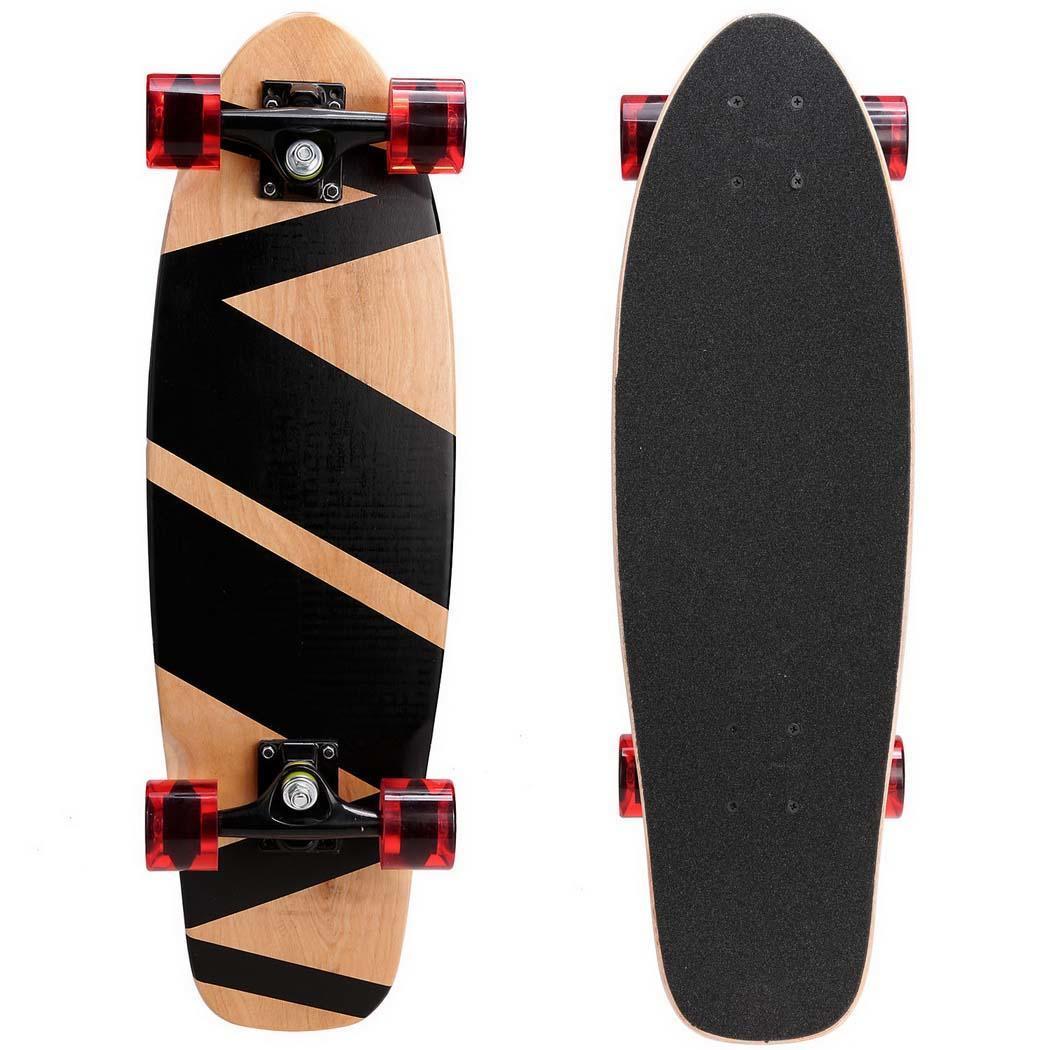 "Wooden 27""Cruiser Style Skateboard Outdoor Fun Skate Boar..."