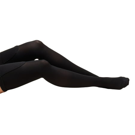 Truform Anti-Embolism Stockings, Thigh High, Closed Toe: 18 mmHg, Black, Small