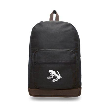 Navy Seal Team DEVGRU Frog Skeleton Backpack with Leather Bottom Accents](Skeleton Backpack)