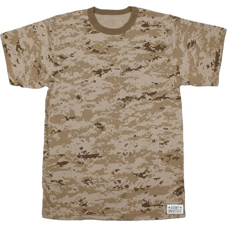 Army Universe - Desert Digital Camouflage Short Sleeve T-Shirt with ARMY  UNIVERSE Pin - Size X-Large (45