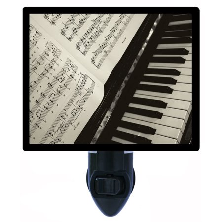 Night Light - Photo Light - Notes - Piano Keys and Sheet Music (Music Note Lights)