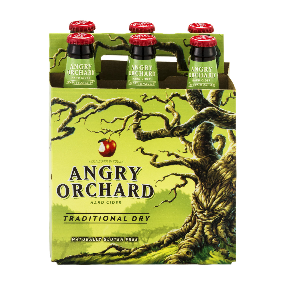 Angry Orchard Hard Cider Taditional Dry - 6 PK, 12.0 FL OZ