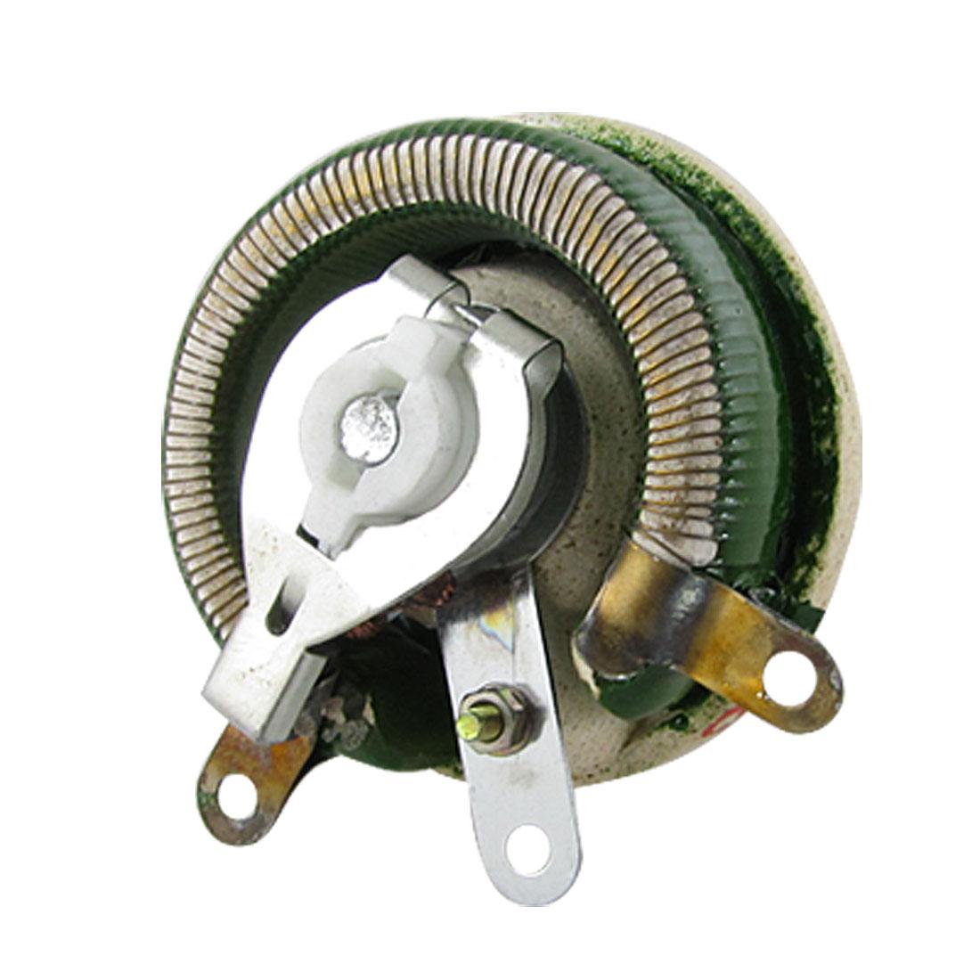 "50W 50 Ohm Rotary Adjustable Resistor Rheostat 1 3/5"" Shaft - image 1 of 1"