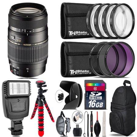 Tamron 70-300mm Lens for Nikon + Flash +  Tripod & More - 16GB Accessory