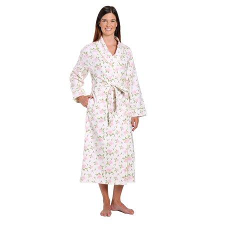 bf3fd6c0f05c Noble Mount - Noble Mount Gift Packaged Women s 100% Premium Cotton Flannel  Robe - Walmart.com