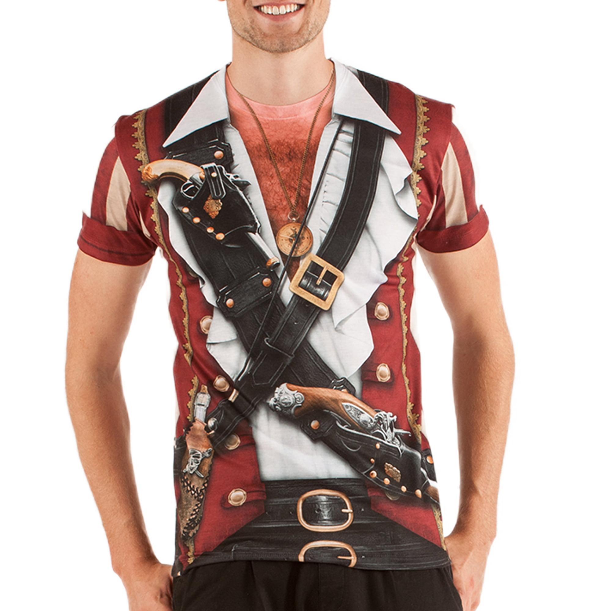 Swashbuckler Pirate Men's Short Sleeve Tee Shirt