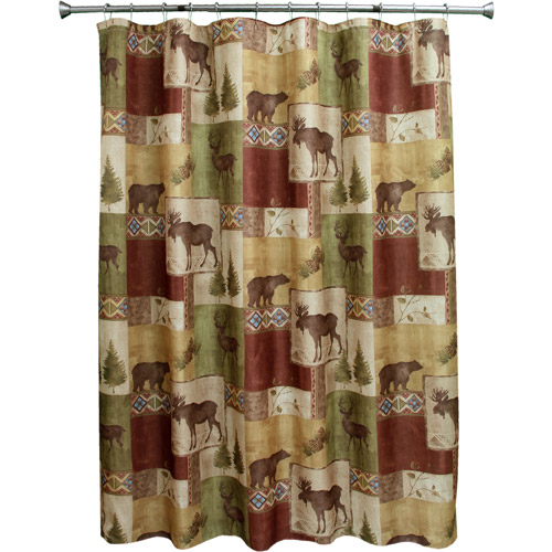 Bacova Guild Mountain Lodge Shower Curtain, Olive