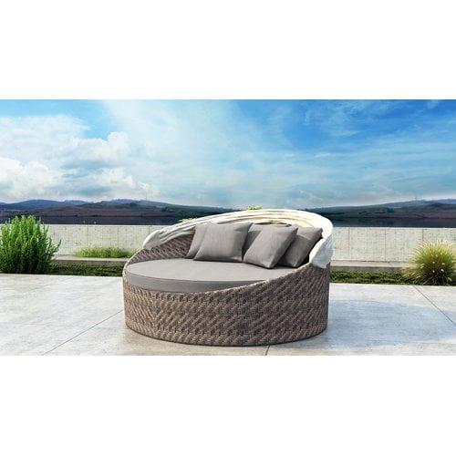 Orren Ellis Gillham Patio Daybed with Sunbrella Cushion