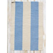 CLM Montauk Blue/Natural Stripe Rug