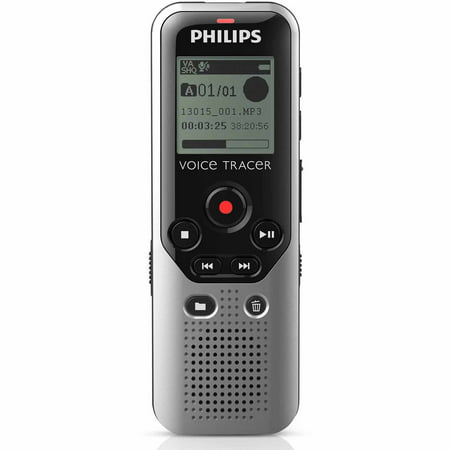 Philips DVT1200 4GB Digital Voice Recorder with microSD Card Slot (Voice Recorder Speech To Text)