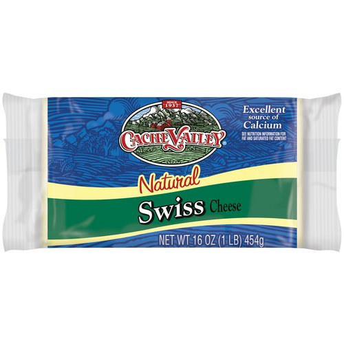 Cache Valley Swiss Cheese, 1 lb by Dairy Farmers of America