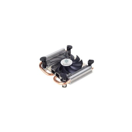 Silverstone Tek Super Low Profile CPU Cooler for Intel Socket LGA115X with 80mm Fan and 2x Copper Heat Pipes