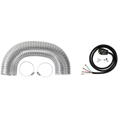 Duct Mount Kit - Certified Appliance Accessories 77007 Dryer Duct Kit with 4-Wire 30-Amp 6ft Cord