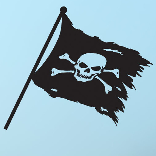 Style and Apply Pirate Flag Wall Decal