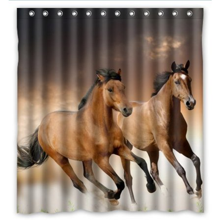 XDDJA Running Horses Shower Curtain Waterproof Polyester Fabric Shower Curtain Size 66x72 inches - image 1 de 1