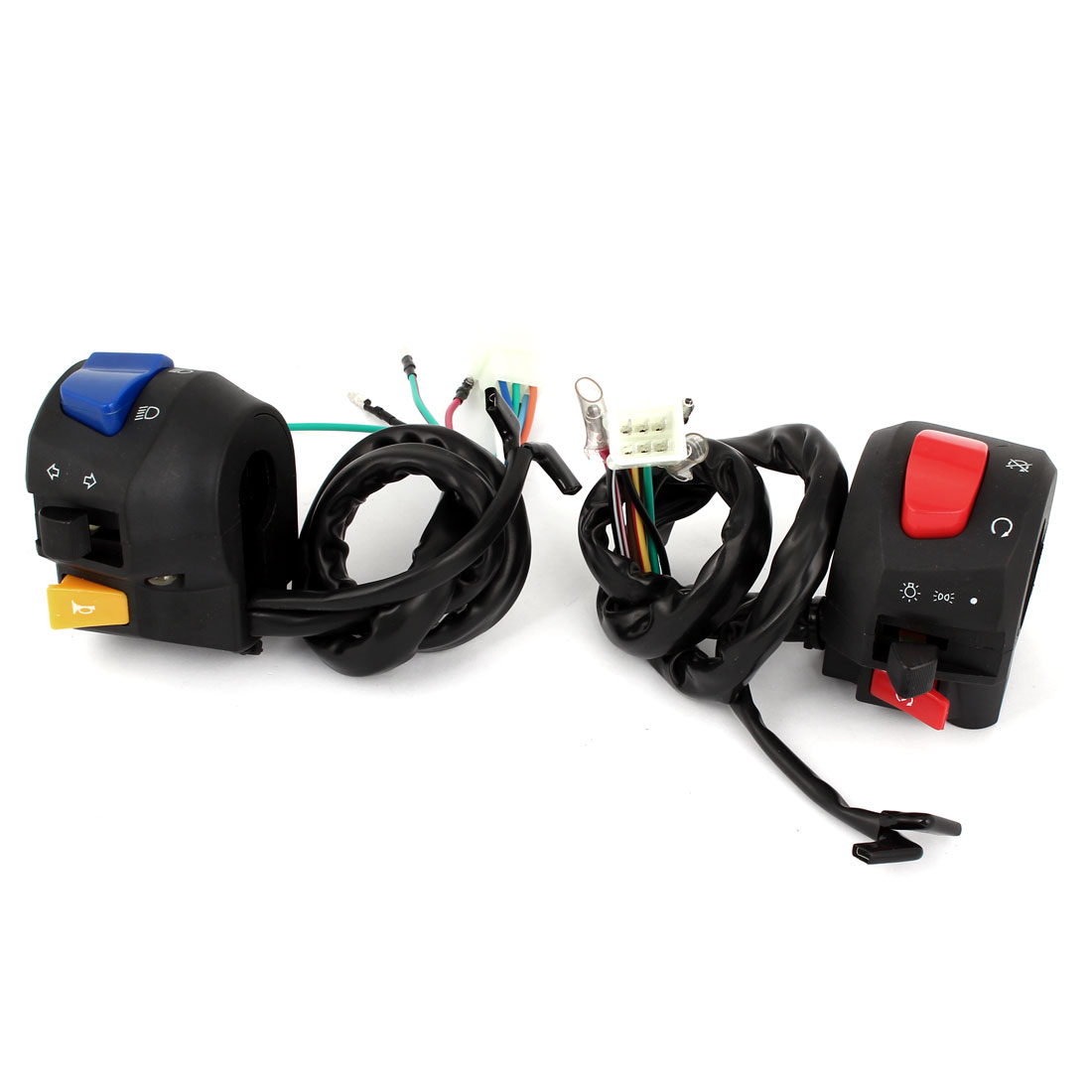 Unique Bargains Motorcycle ATV Handlebar Horn Turn Signal Headlight Electrical Switch for Suzuki