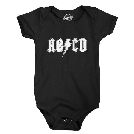 Baby ABCD Creeper Funny Metal Band Rock Logo Romper for Infants and