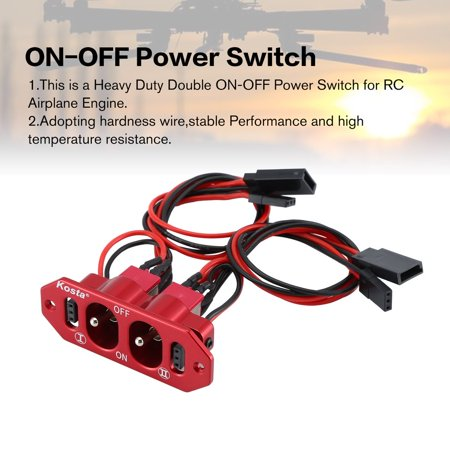 CNC Heavy Duty Double ON-OFF Power Switch Futaba JR Cable For RC Models - image 2 of 9