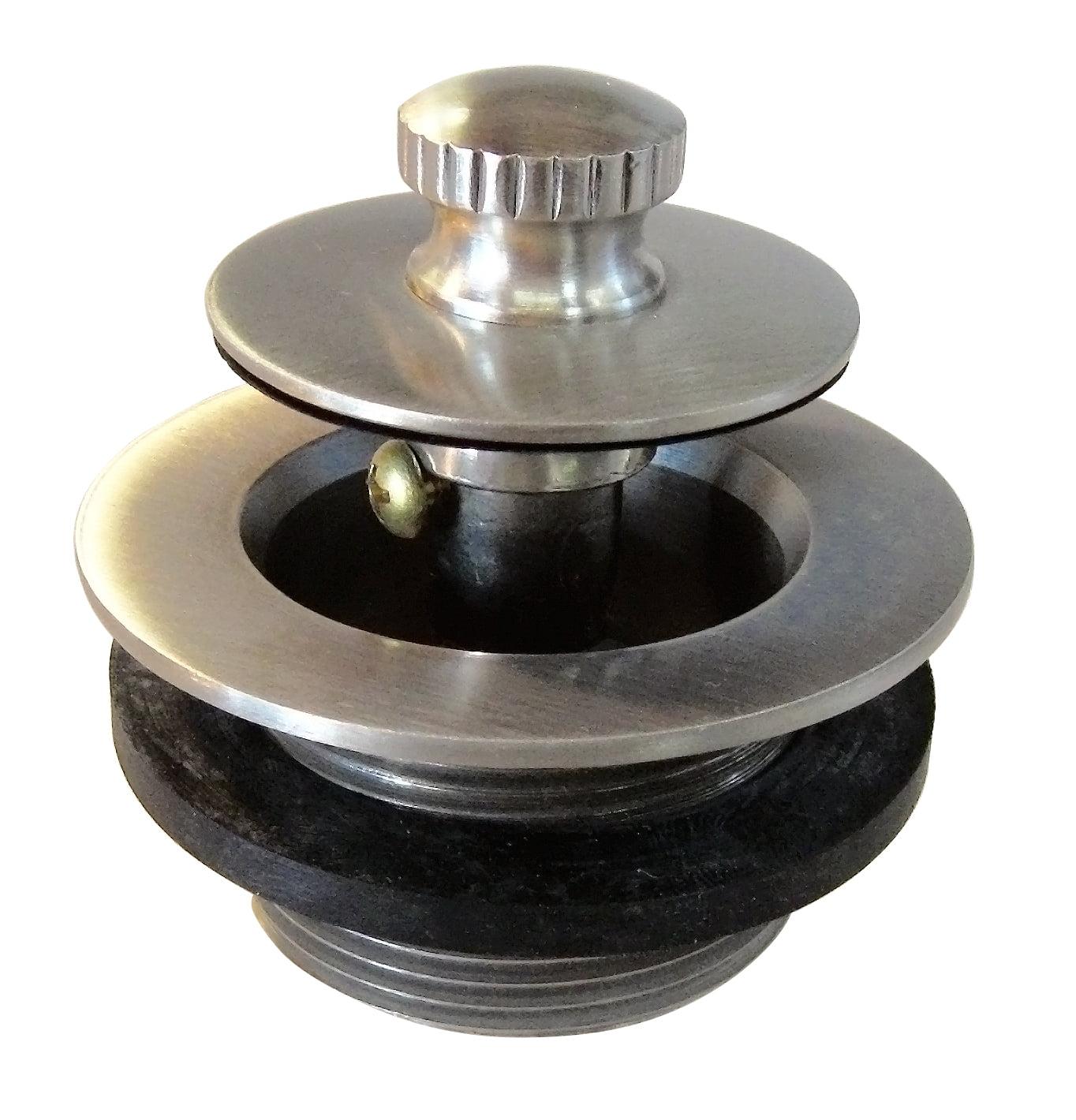 Westbrass Twist & Close 1-1/2 in. NPSM Coarse Thread Bath Drain D331 in Stainless Steel