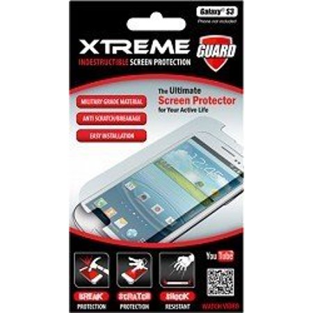 Xtreme55255 Indestructible Screen Protector for Galaxy S III - 1 Pack - Retail Packaging - Clear ()