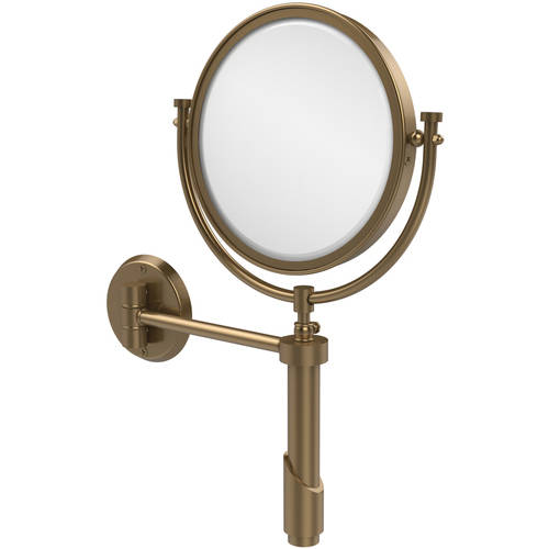 "Tribecca Collection Wall-Mounted Make-Up Mirror, 8"" Diameter with 4x Magnification (Build to Order)"