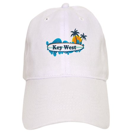 CafePress - Key West - Surf Design. - Printed Adjustable Baseball Cap (Surfing Baseball Caps)