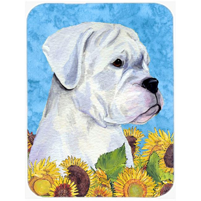 Carolines Treasures SS4142LCB Boxer Glass Cutting Board - Large - image 1 of 1