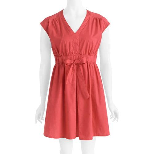 Women's Retro Tie Front Dress