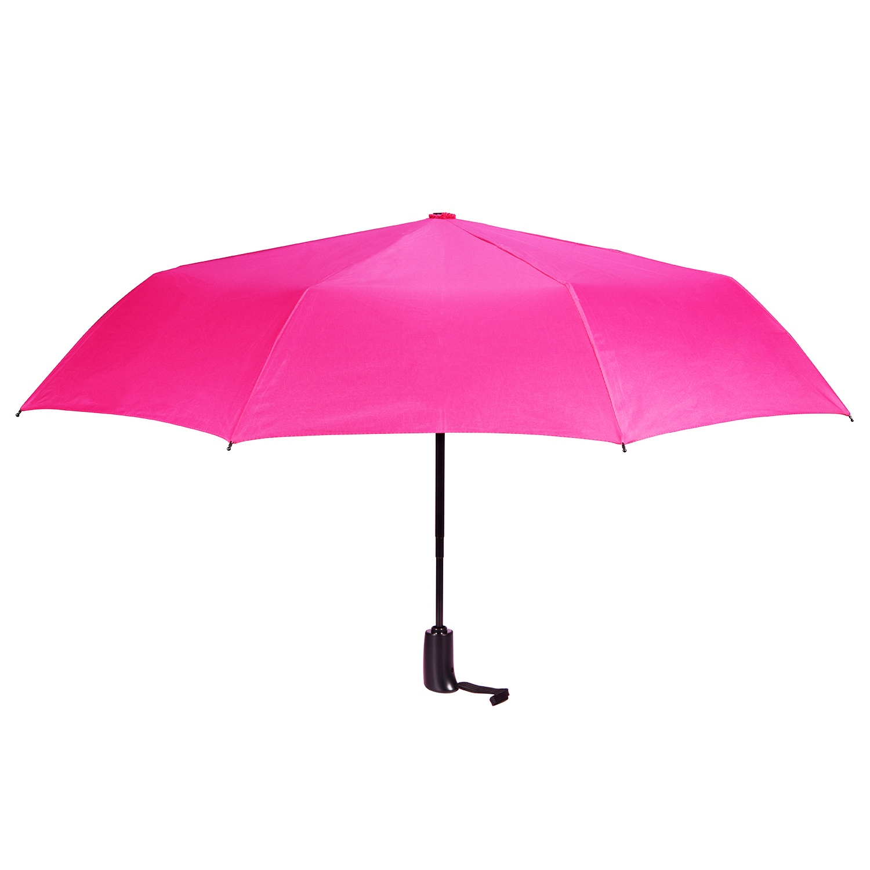 Oak Leaf Auto-open Pink Umbrella, Travel Umbrella Foldable For ...