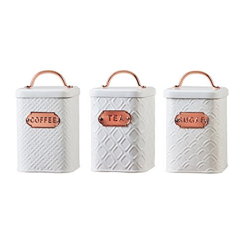 Amici Home Ventana Collection Metal, Metal Storage Canisters
