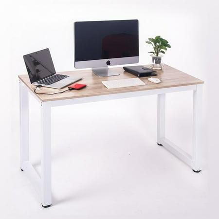 Merax modern simple design computer desk table workstation Simple computer table designs for home