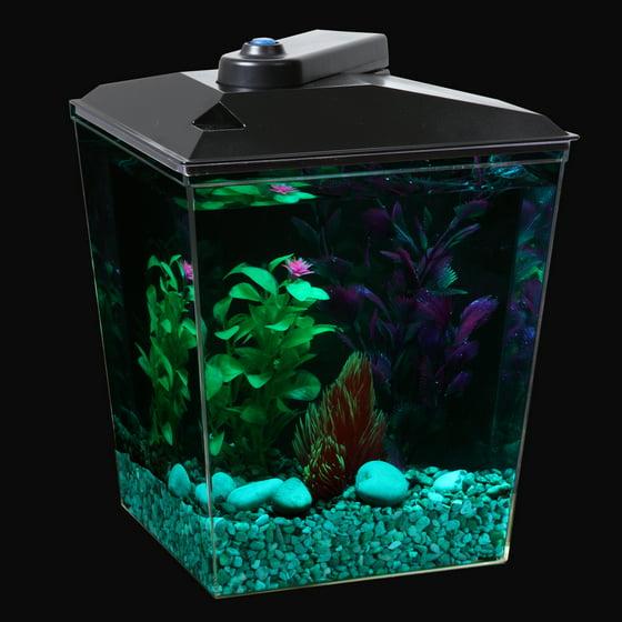 Aqua Culture 2 5 Gallon Corner Aquarium Starter Kit With Led Light