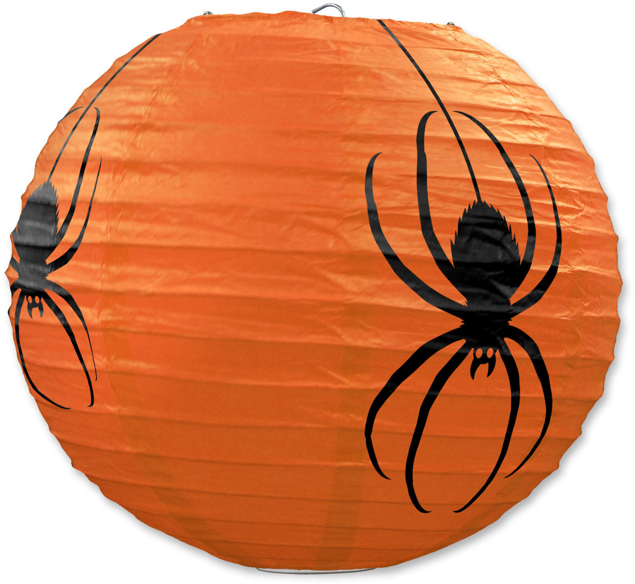 "3 Count 9.5"" Hanging Spider Paper Lanterns Halloween Decorations"