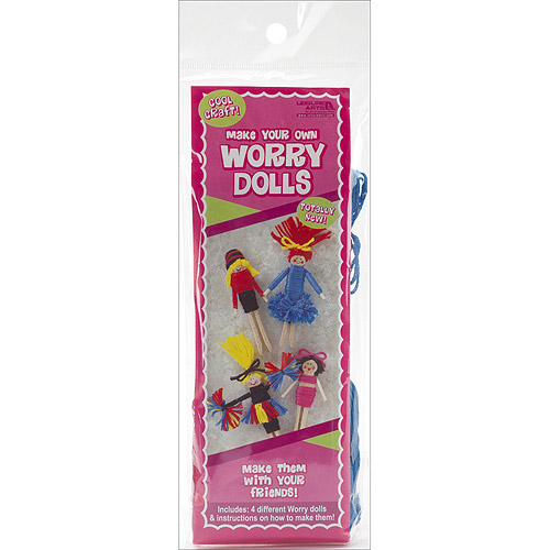 Make Your Own Worry Dolls Kit, Makes 4, Cheerleader