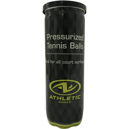 - (48 Pack) Athletic Works Pressurized Tennis Balls, 1 Can, 3 Balls