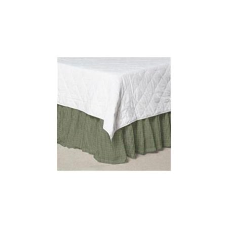 Patch Magic DRQW140A Green Hunter and Tan Check, Fabric Dust Ruffle Queen