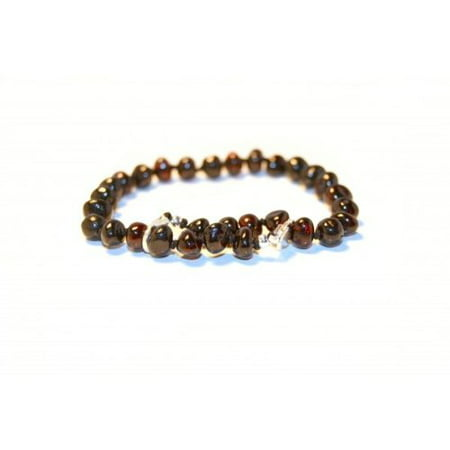 The Art of Cure Baltic Amber bracelet 10 Inch - Silver Lobster Clasp (Cherry) - Anti-inflammatory