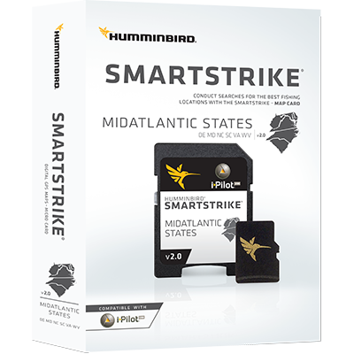 Humminbird 600047-2 SmartStrike Maps, Mid Atlantic States